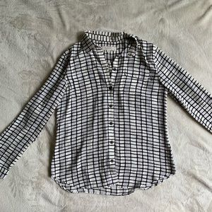 Loft Black and White Blouse